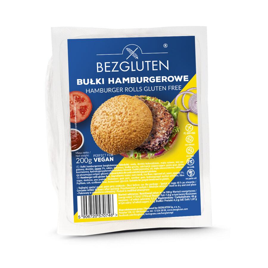 Gluten free hamburger rolls, 200 g.