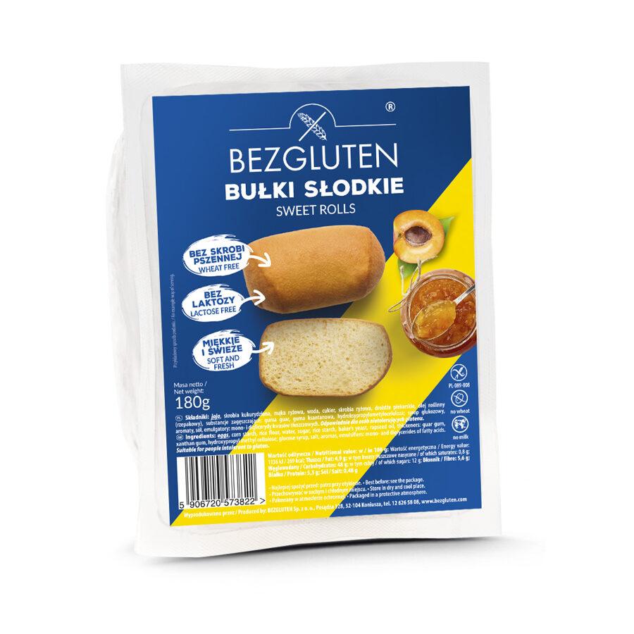 Gluten free sweet rolls, 180 g.