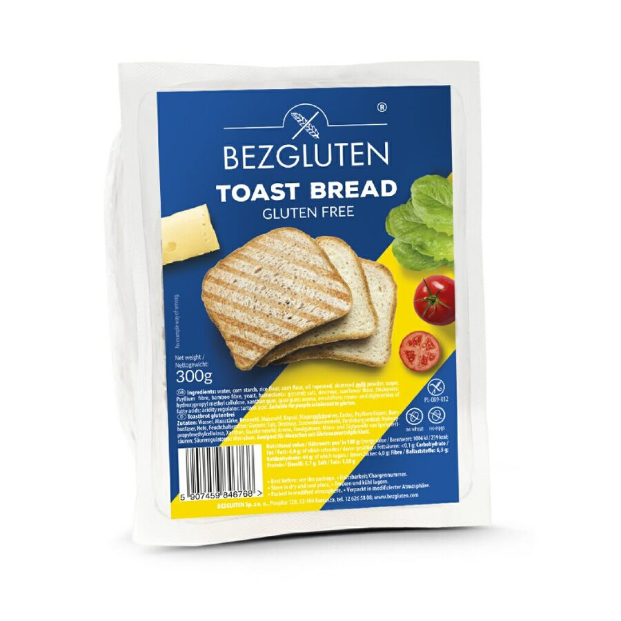 Gluten free toast bread, 300 g.