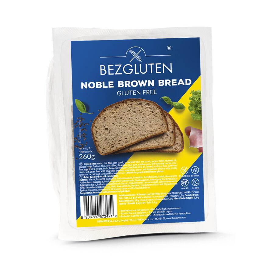 Gluten free Noble brown bread, 260 g.