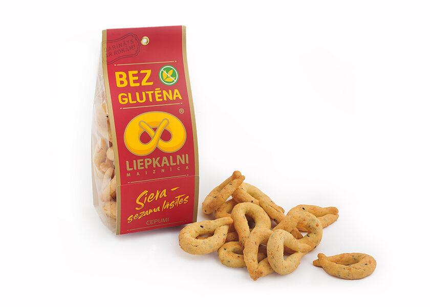 "Gluten free cookies ""Cheese-Sesame Drops"" 100 g"