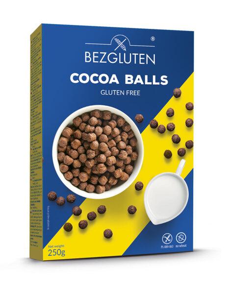 Bezglutēna kakao bumbiņas, 250 g.