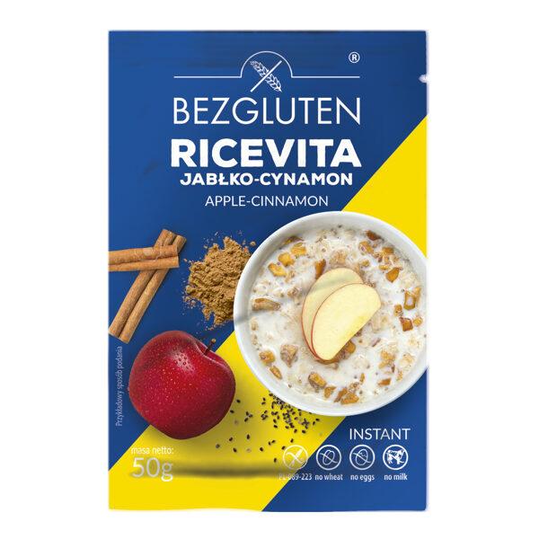 Gluten free ricevita - apple cinnamon rice flakes, 50 g.