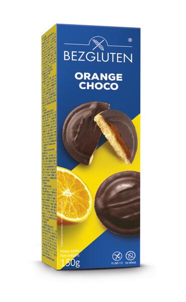 Печенье без глютена в шоколадной глазури с начинкой из апельсинового желе, 150 г.