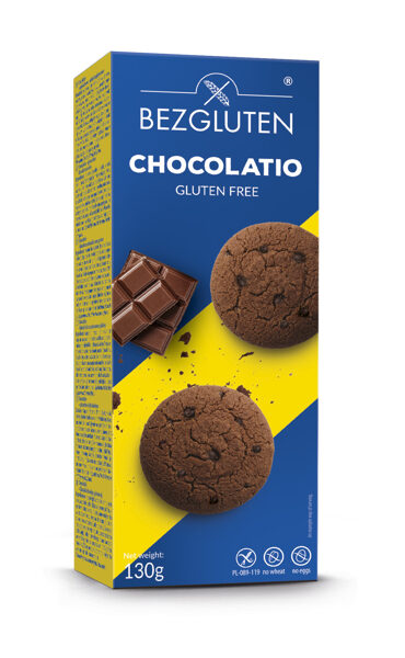 Gluten free chocolatio - chocolate cookies, 130 g.