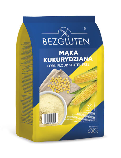 Gluten free corn flour, 500 g.