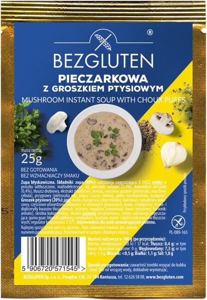 Bezglutēna sēņu zupiņa (1 porcija) ar maizes bumbiņām, 25 g.