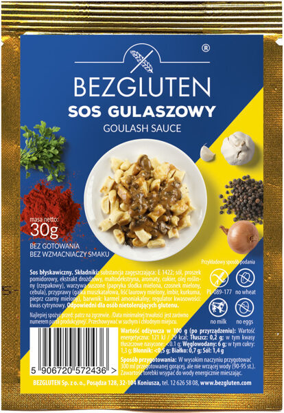 Gluten-free spice mix for goulash sauce, 30 g.
