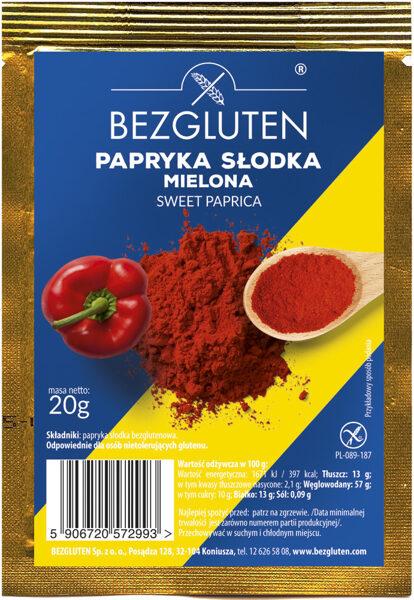 Bezglutēna garšviela - saldā paprika, 20 g.