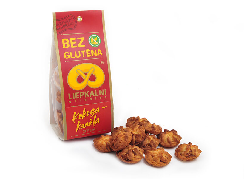 Gluten free coconut-cinnamon biscuits 120 g